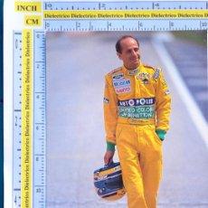 Coleccionismo deportivo: POSTAL DE DEPORTES. AUTOMOVILISMO F1 FORMULA 1 BENETTON. PILOTO ROBERTO MORENO BRASIL. 215. Lote 286015948