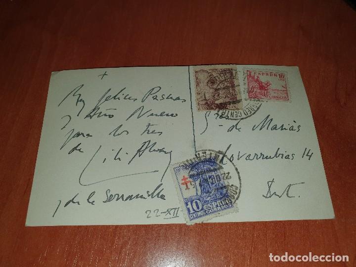 Coleccionismo deportivo: Lili alvarez, tarjeta postal felicitando año, circulada y autografiada por la tenista - Foto 2 - 286624558