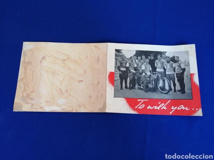Coleccionismo deportivo: 1946 WEMBLEY LIONS SIGNATURE CARD MOTORCYCLES COMPETITION (WEMBLEY LIONS MOTOCICLISTAS 1946) - Foto 3 - 286655863