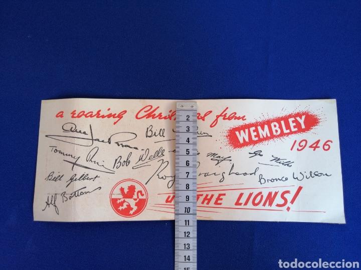 Coleccionismo deportivo: 1946 WEMBLEY LIONS SIGNATURE CARD MOTORCYCLES COMPETITION (WEMBLEY LIONS MOTOCICLISTAS 1946) - Foto 4 - 286655863