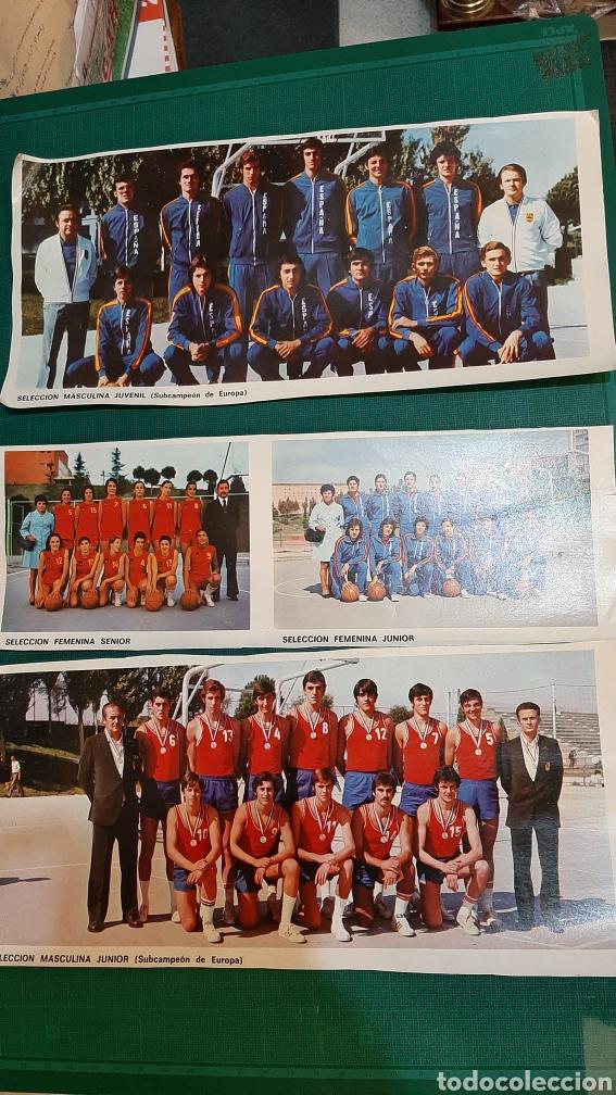 FOTOS BALONCESTO SELECCIONES ESPAÑA (Coleccionismo Deportivo - Postales de otros Deportes )