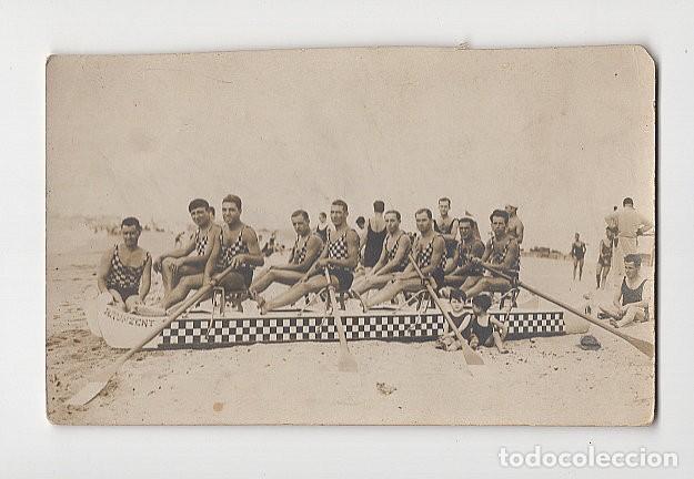 ANTIGUO EQUIPO DE REMO (TAMAÑO 8´7 X 14) (Coleccionismo Deportivo - Postales de otros Deportes )