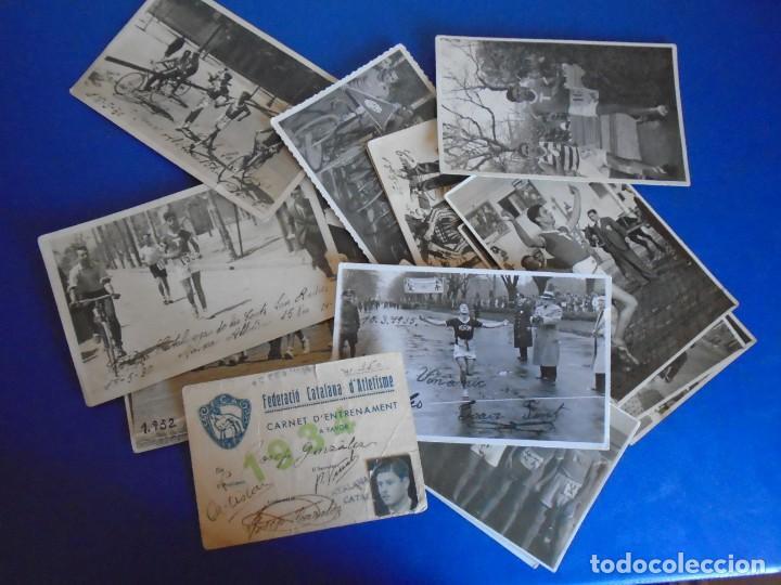 (F-210913)CARNET,13 POSTALES FOTOGRAFICAS Y 4 FOTOS DEL ATLETA DE CROSS JOSEP GONZALEZ AÑOS 30 (Coleccionismo Deportivo - Postales de otros Deportes )