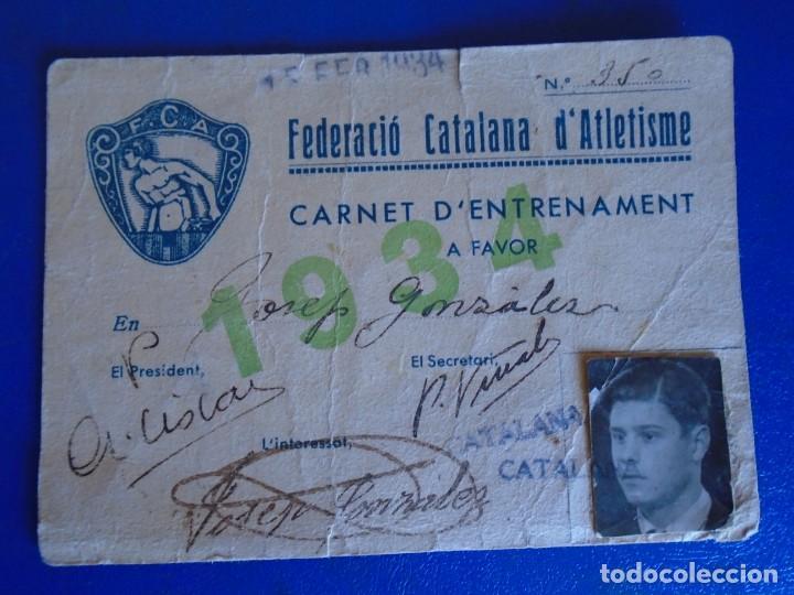 Coleccionismo deportivo: (F-210913)CARNET,13 POSTALES FOTOGRAFICAS Y 4 FOTOS DEL ATLETA DE CROSS JOSEP GONZALEZ AÑOS 30 - Foto 2 - 288378473