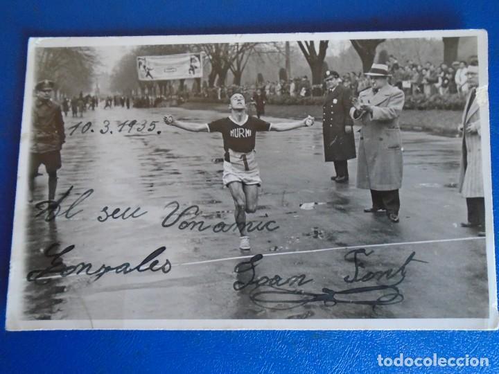 Coleccionismo deportivo: (F-210913)CARNET,13 POSTALES FOTOGRAFICAS Y 4 FOTOS DEL ATLETA DE CROSS JOSEP GONZALEZ AÑOS 30 - Foto 7 - 288378473