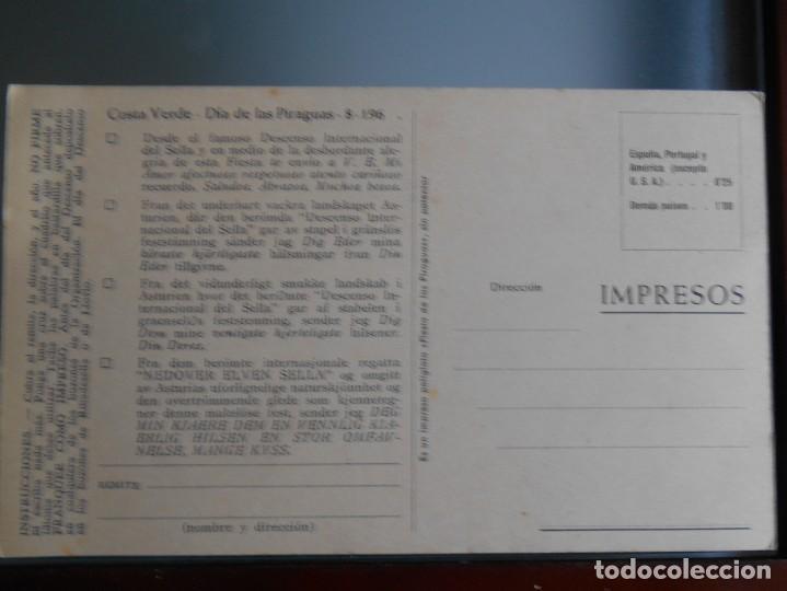 Coleccionismo deportivo: tarjeta Descenso del sella Antigua - Foto 2 - 288971738