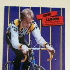 Coleccionismo deportivo: GREG LEMOND -- POSTAL PROMOCIONAL. Lote 295781143