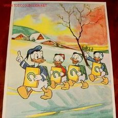 Postales: ANTIGUA POSTAL 1956 PATO DONALD Y SUS SOBRINOS - WALT DISNEY. Lote 128285