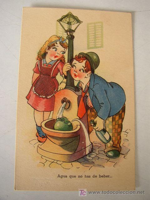 USADA- 1944.- EDC.TRIO.- CON RIMA.-SERIE S (Postales - Dibujos y Caricaturas)