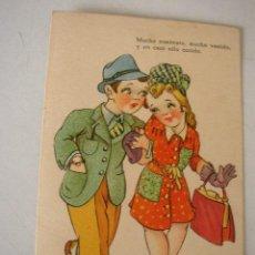 Postales: ANTIGUA POSTAL USADA- 1944.- EDC.TRIO.- CON RIMA.. Lote 15328363
