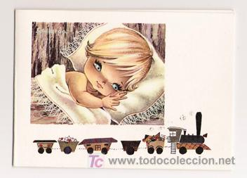 MAGNÍFICO DÍPTICO ILUSTRADO POR GALLARDA - NIÑOS - ANGELES - EUROCROMO - SERIE 123 (Postales - Dibujos y Caricaturas)