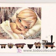 Postales: MAGNÍFICO DÍPTICO ILUSTRADO POR GALLARDA - NIÑOS - ANGELES - EUROCROMO - SERIE 123. Lote 95026735