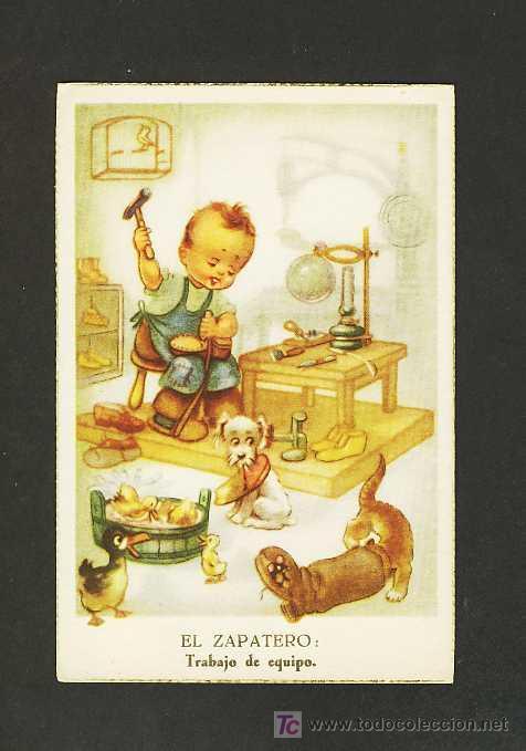 Postal ilustrada ni o zapatero comprar postales - Zapatero para ninos ...