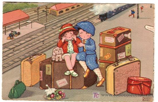 POSTAL DE MARGRET BORISS. CIRCULADA CON SELLO ESPAÑA 15 C. Y VIÑETA EXPOSICIÓN BARCELONA 1930 (Postales - Dibujos y Caricaturas)