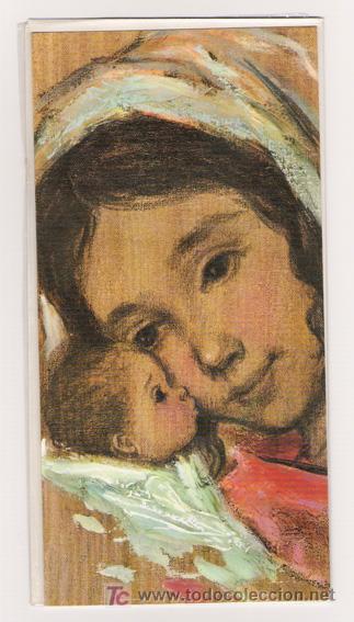 MAGÍFICO DÍPTICO DEL NIÑO JESUS Y LA VIRGEN MARIA CON SOBRE - SANTANIT - 02-05-006-3 (Postales - Dibujos y Caricaturas)