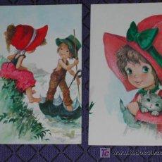 Postales: POSTALES INFANTILES - LOTE DE DOS POSTALES INFANTILES DESPLAZADAS.. Lote 4863098