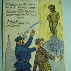Postales: 9108 BELGICA BELGIQUE BRUXELLES MANNEKEN PIS - HUMOR - MAS EN COSAS&CURIOSAS. Lote 4984517