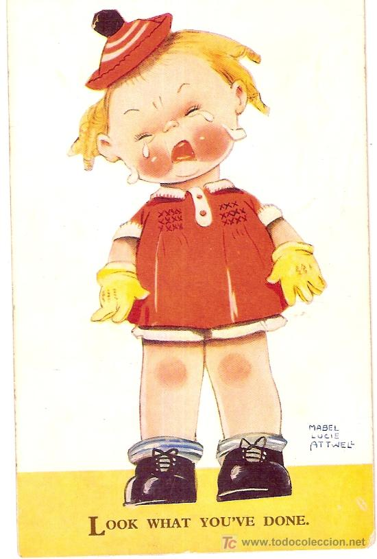 LOOK WHAT YOU'VE DONE / MABEL LUCIE ATTWELL (Postales - Dibujos y Caricaturas)