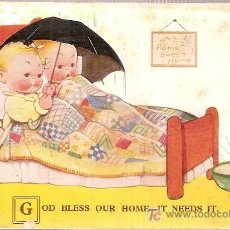 Postales: GOD BLESS OUR HOME-IT NEEDS IT / MABEL LUCIE ATTWELL. Lote 5235050