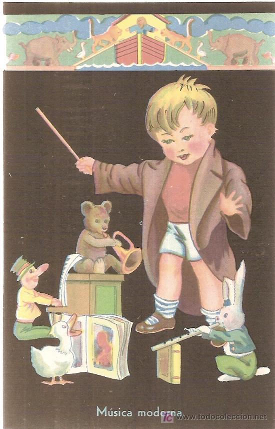 MUSICA MODERNA. EDICIONES DE ARTE. IKON. BARCELONA (Postales - Dibujos y Caricaturas)
