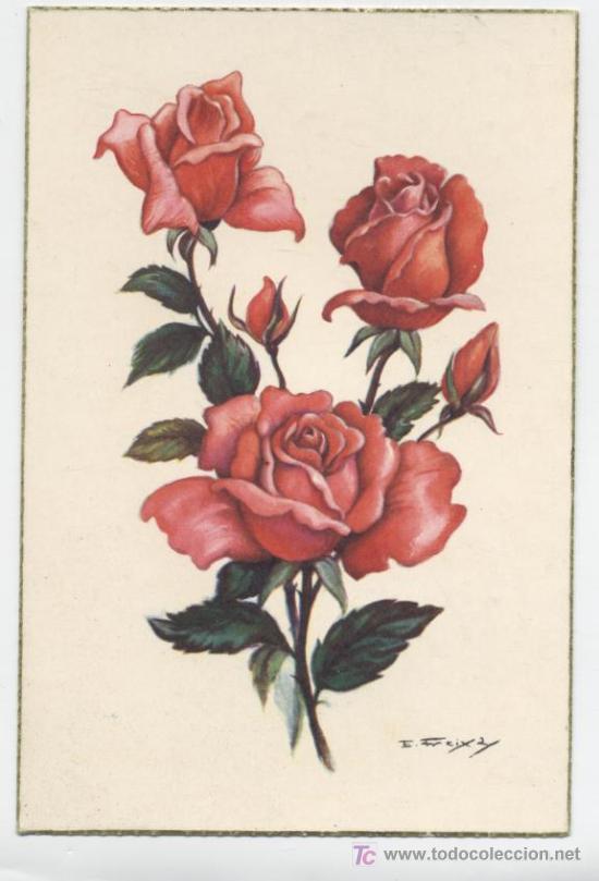 Postal Rosas Rojas Freixas Vendido En Venta Directa 5299888