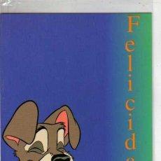 Postales: TARJETA DE FELICITACION - DISNEY - LA DAMA Y EL VAGABUNDO - Nº 11. Lote 293542878