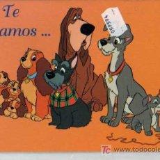 Postales: TARJETA DE FELICITACION - DISNEY - LA DAMA Y EL VAGABUNDO - Nº 19. Lote 20655115