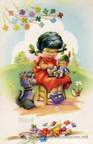 Postal c y z 545 b ilustraci n vernet comprar - Ilustraciones infantiles antiguas ...