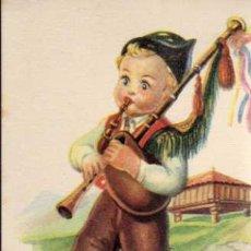 Postales: POSTAL - IKON/EDICIONES DEL ARTE - SERIE 6 - REGIONALES INFANTILES - ASTURIAS. Lote 5748327