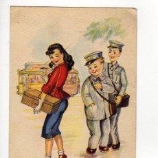 Postales: POSTAL COLECCION -B- IMITADORES DE ESTRELLAS ILUSTRACION GIRONA. Lote 21591700