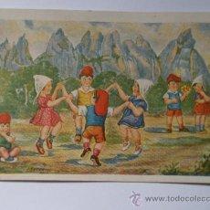 Postales: POSTAL ESCRITA, Nº12, SÈRIE SARDANA A MONTSERRAT. Lote 9670105