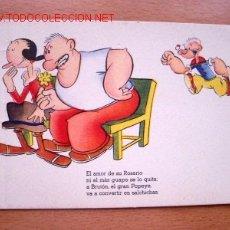Postales: POSTAL AVENTURAS DE POPEYE COLECCIÓN B - EDITA ARTIGAS - BARCELONA. Lote 23148605