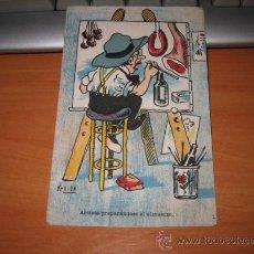 Postales: ARTISTA PREPARANDOSE EL ALMUERZO K-TITE. Lote 10733680