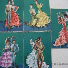 Postales: SEVILLANAS. 5 POSTALES C/Z. PAREJAS BAILANDO SEVILLANAS. Lote 22155137