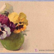 Postales: TARJETA POSTAL ANTIGUA DE FLORES.. Lote 12538228