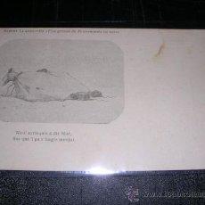 Postales: DIBUIXOS DE MODEST URGELL,ALBERT LLANAS,DE UNA GROSSA DE PENSAMENTS EN VERS,ANTERIOR 1905.14X9 CM.. Lote 13383953