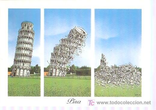 POSTAL DE PISA - ITALIA (Postales - Dibujos y Caricaturas)