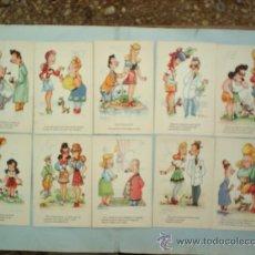 Postales: COLECCION COMPLETA DE 10 POSTALES-OSCAR DANIEL-AÑOS 30. Lote 16729735