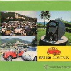 Postales: GARLENDA. FIAT 500. SIN CIRCULAR. CLUB ITALIA.. Lote 27120067