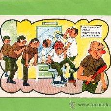 Postales: MILI. SERVICIO MILITAR. CORTE DE PELO. CIRCULADA. RECLUTA. Lote 27406208