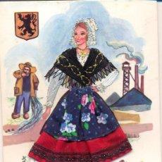Postales: *POST 195 - POSTAL SIN CIRCULAR: FLANDRE - MUJER CON VESTIDO BORDADO - EDITIONS VACANCES - PARIS. Lote 15205003