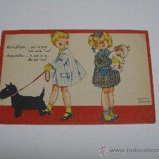 Postales: POSTAL MARIA CLARET . COLECCIÓN POSTALES MARI PEPA . SERIE F Nº 1 . MARI PEPA Y AMANDITA . Lote 15700819