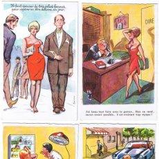 Postales: 4 POSTALES DE CARICATURAS ERÓTICAS, EDIT. G.PICARD, SIN CIRCULAR. Lote 27015012