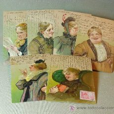 Postales: SERIE DE 6 ANTIGUAS POSTAL, CARICATURESCAS, DIFERENTES TIPOS DE SUEGRAS, CIRCULADAS, 1920S ?. Lote 16756349