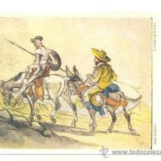 Postales: DON QUIJOTE .. EDITORIAL ARTIS MUNDI .. COPIADO CON LA BOCA POR CEFISCHER 1959. Lote 16304552