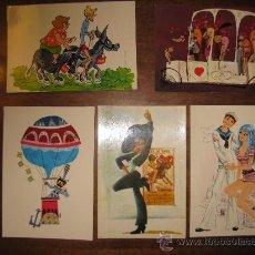 Postales: POSTALES AÑOS 60- CINCO - SIN ESCRIBIR- 5 (DIBUJOS VARIOS). Lote 16676687