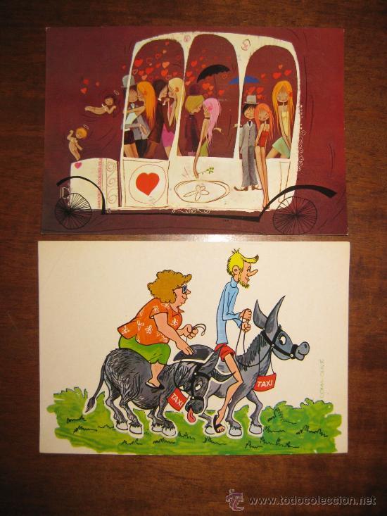 POSTALES AÑOS 60- DOS - SIN ESCRIBIR- 7 (DIBUJOS VARIOS) (Postales - Dibujos y Caricaturas)