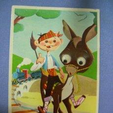 Postales: POSTAL INFANTIL CON MOVIMIENTO CREACIONES CIMER, ILUSTR. LUIS SANCHEZ, ESCRITA AÑOS 50. Lote 27497297
