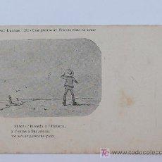 Postales: ALBERT LLANAS, DIBUIXOS DE MODEST URGELL. ANTERIOR A 1905. 8,7 X 13,7 CM.. Lote 17333660