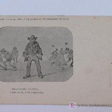 Postales: ALBERT LLANAS, DIBUIXOS DE MODEST URGELL. ANTERIOR A 1905. 8,7 X 13,7 CM.. Lote 17333669